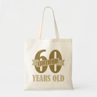 Certified 60th Birthday Gag Gifts Canvas Bag