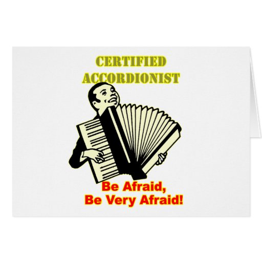 Certified Accordionist Cards