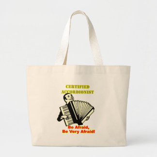 Certified Accordionist Large Tote Bag