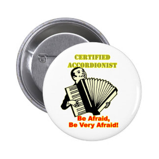 Certified Accordionist Pinback Button