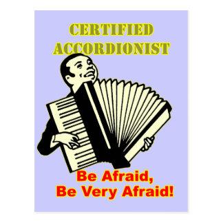 Certified Accordionist Postcard