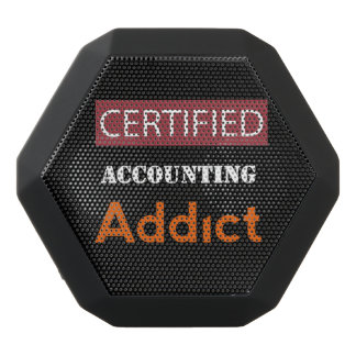 Certified Accounting Addict Black Bluetooth Speaker