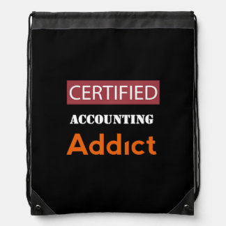 Certified Accounting Addict Drawstring Backpack