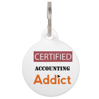 Certified Accounting Addict Pet Tag