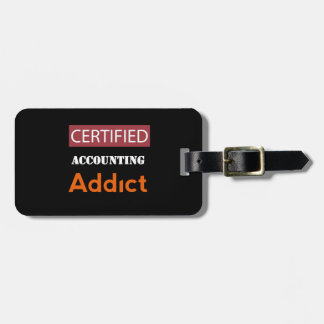 Certified Accounting Addict Tag For Luggage