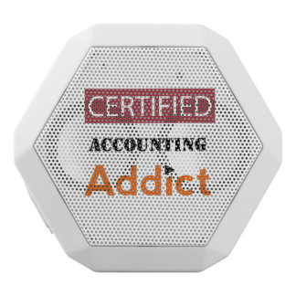 Certified Accounting Addict White Bluetooth Speaker