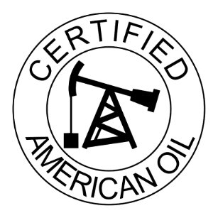 Certified American Oil Drilling Hard Hat Stickers