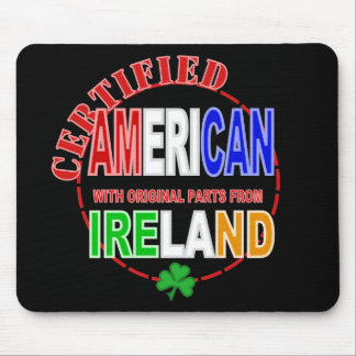 Certified American With Parts From Ireland Design Mouse Pad