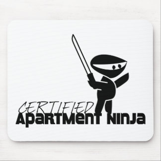 Certified Apartment Ninja Funny Mouse Pad