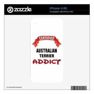 Certified Australian Terrier Addict iPhone 4 Skin