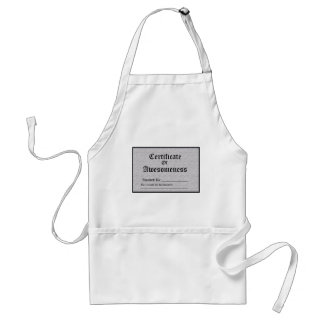 Certified Awesome Adult Apron