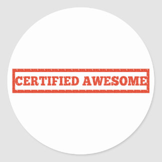 Certified Awesome Stamp Stickers