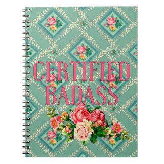 Certified badass notebook vintage wallpaper design