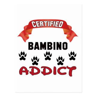 Certified Bambino Addict Postcard
