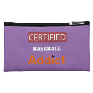Certified Baseball Addict Cosmetic Bag