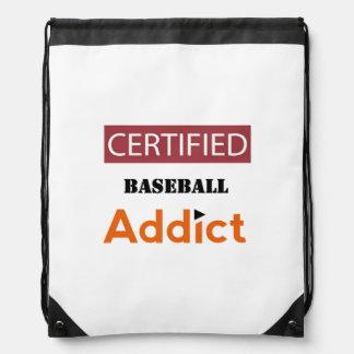 Certified Baseball Addict Drawstring Bag