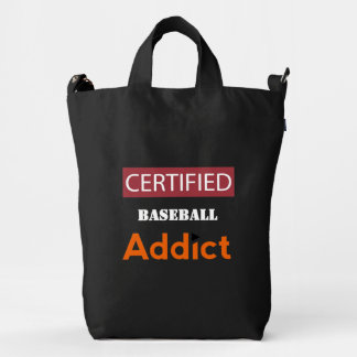 Certified Baseball Addict Duck Bag