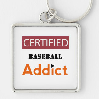 Certified Baseball Addict Keychain