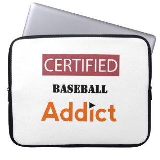 Certified Baseball Addict Laptop Sleeves