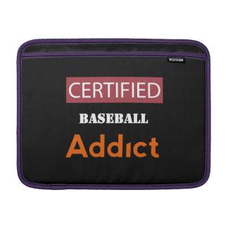 Certified Baseball Addict MacBook Air Sleeves