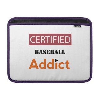 Certified Baseball Addict MacBook Sleeves