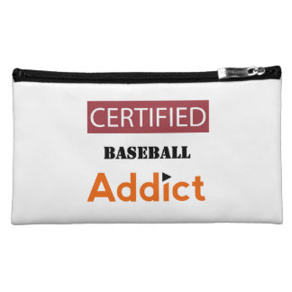 Certified Baseball Addict Makeup Bag