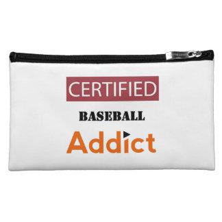 Certified Baseball Addict Makeup Bag