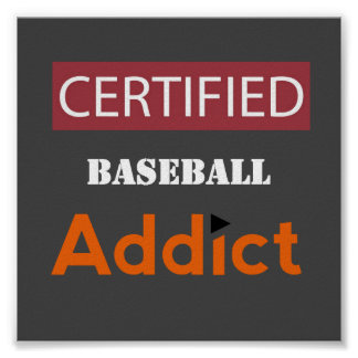 Certified Baseball Addict Poster