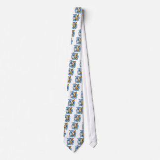 Certified Baseball Nut Blue White Emblem Design Neck Tie
