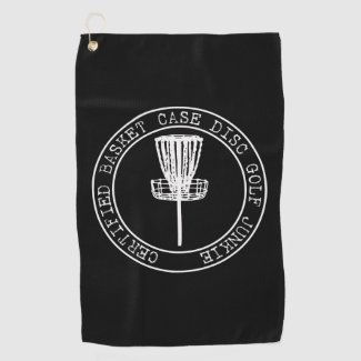 Certified Basket Case Disc Golf Junkie Golf Towel