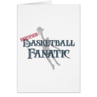 Certified Basketball Fanatic Greeting Card