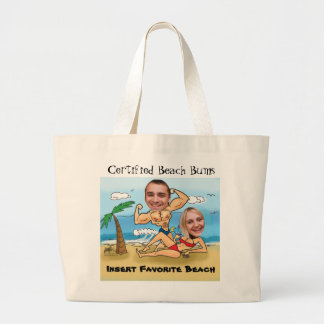 Certified Beach Bums Cut Outs Tote Bags