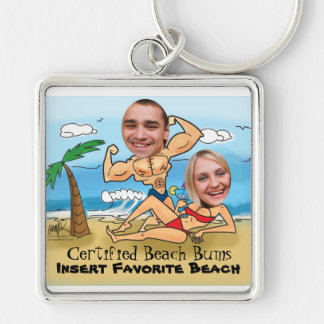 Certified Beach Bums Cut Outs Keychain