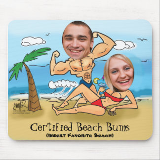 Certified Beach Bums Cut Outs Mouse Pad