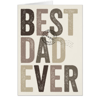 Certified Best Dad Ever Father's Day | Birthday Card