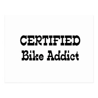 Certified Bike Addict Postcard