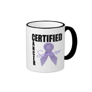 Certified Cancer Survivor - Hodgkin's Lymphoma Ringer Coffee Mug