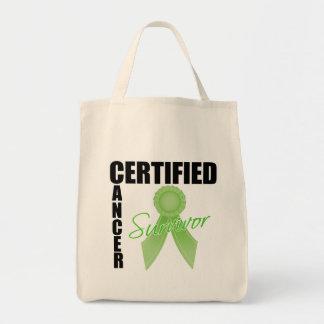 Certified Cancer Survivor - Lymphoma Canvas Bag