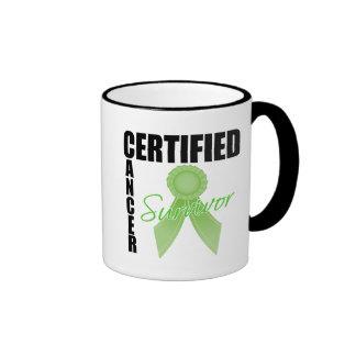 Certified Cancer Survivor - Lymphoma Ringer Coffee Mug