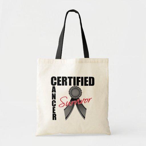 Certified Cancer Survivor - Melanoma Canvas Bag