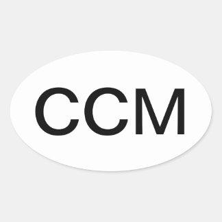 Certified Case Management Nurse Oval Sticker
