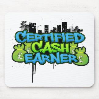 certified cash earner money stacks mouse pad