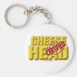 Certified CheeseHead Basic Round Button Keychain