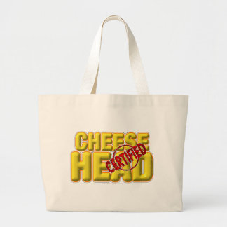 Certified CheeseHead Large Tote Bag