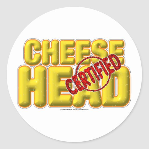 Certified CheeseHead Round Stickers