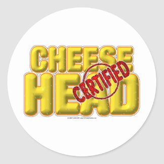 Certified CheeseHead Classic Round Sticker