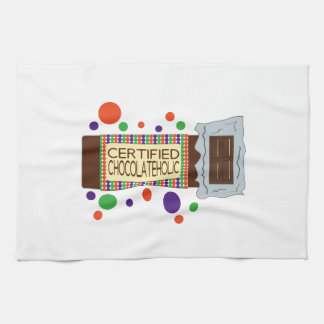 Certified Chocolateholic Hand Towels