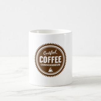 Certified Coffee Connoisseur Classic White Coffee Mug