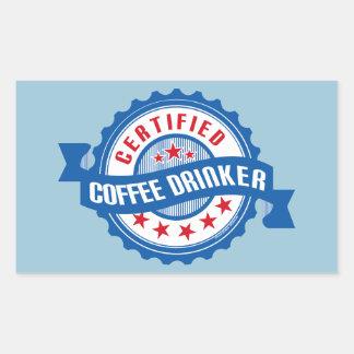 Certified Coffee Drinker Rectangular Sticker