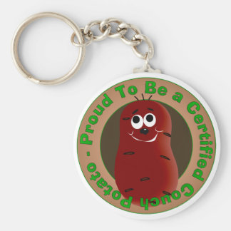 Certified Couch Potato Keychain